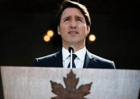 Canadian Prime Minister Justin Trudeau announcing the snap election, Ottawa, August 15.